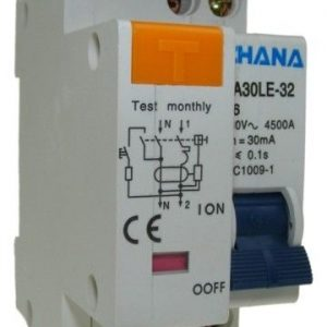 Chana 1P+N RCBO - 2 Modules Wide-404