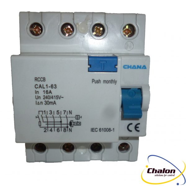 Chana 4 Pole Rcd Chalon Components Ltd