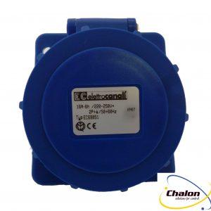 Elettro Canali IP67 230V 2P+E Angled Flush Mounted Socket-1330
