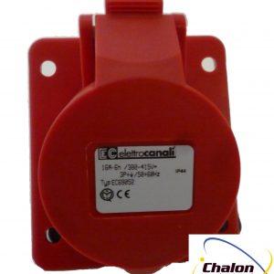 Elettro Canali IP44 400V 3P+E Angled Flush Mounted Socket-1305