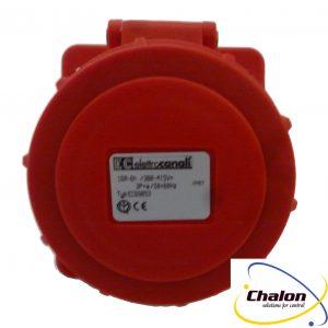 Elettro Canali IP67 400V 3P+E Angled Flush Mounted Socket-1333