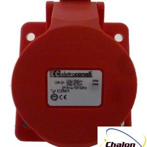 Elettro Canali IP44 400V 3P+N+E Angled Flush Mounted Socket-1300