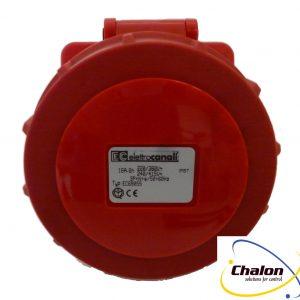 Elettro Canali IP67 400V 3P+N+E Angled Flush Mounted Socket-1336