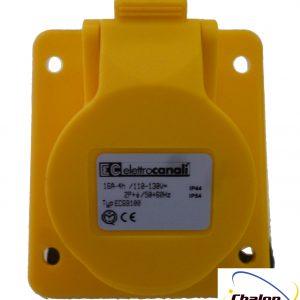 Elettro Canali IP44 110V 2P+E Angled Flush Mounted Socket-1283