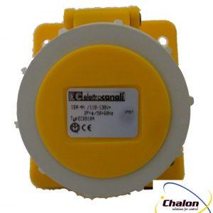 Elettro Canali IP67 110V 2P+E Angled Flush Mounted Socket-1325