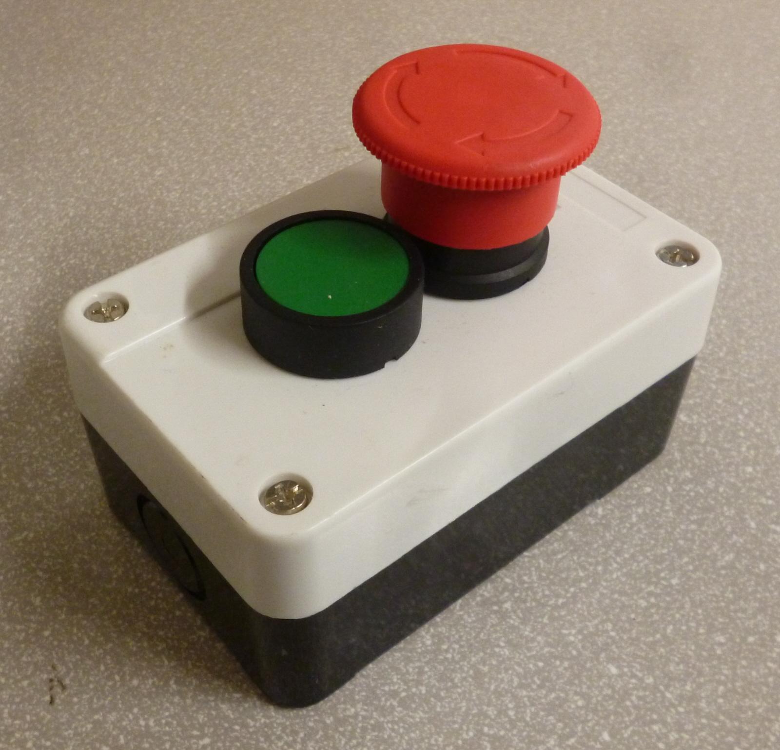2 Button Station Start Emergency Stop Chalon Components Ltd
