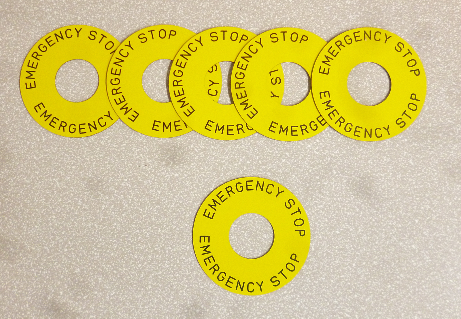 Legend Plates and Emergency Stop Discs