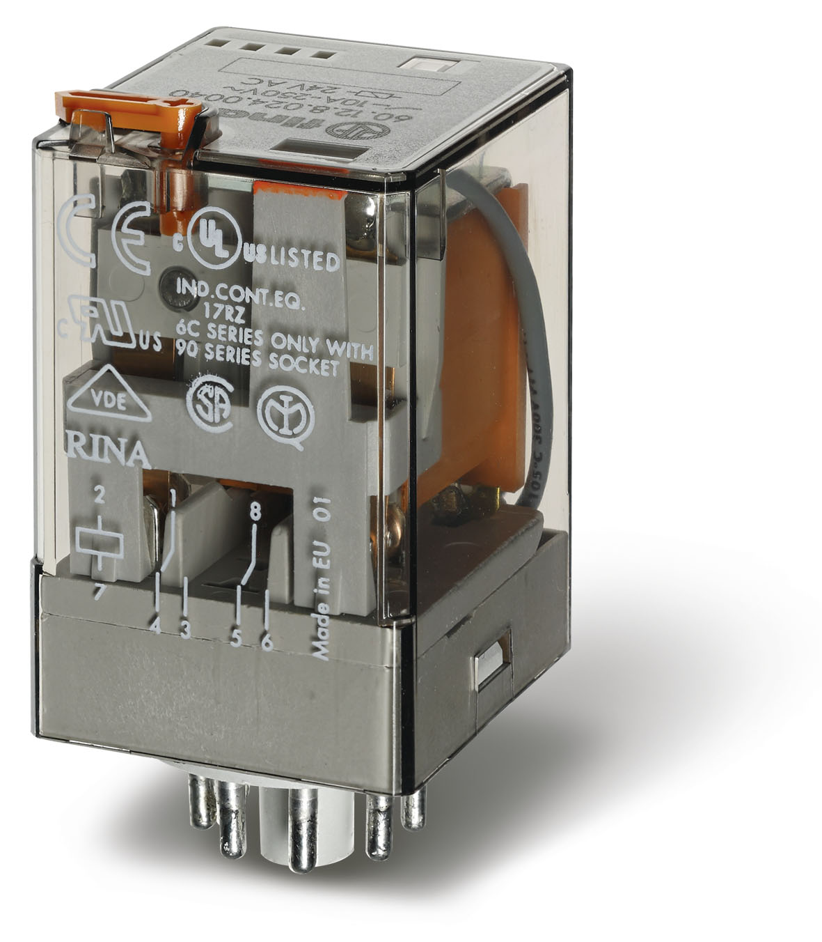 Finder 60 Series 8 Pin General Purpose Relay 230vAC 1