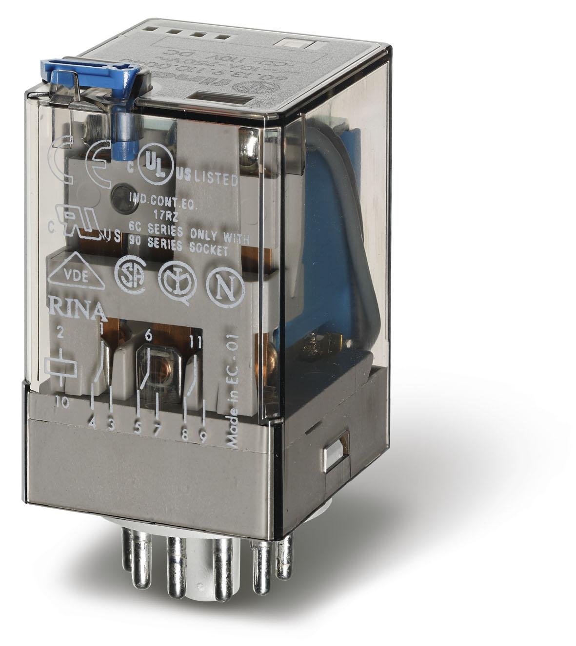 Finder 60 Series 11 Pin General Purpose Relay 24vDC 1